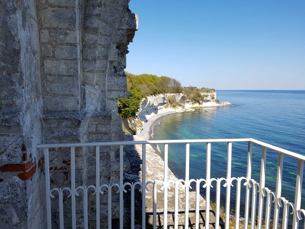 stevns klint balkon uitzicht