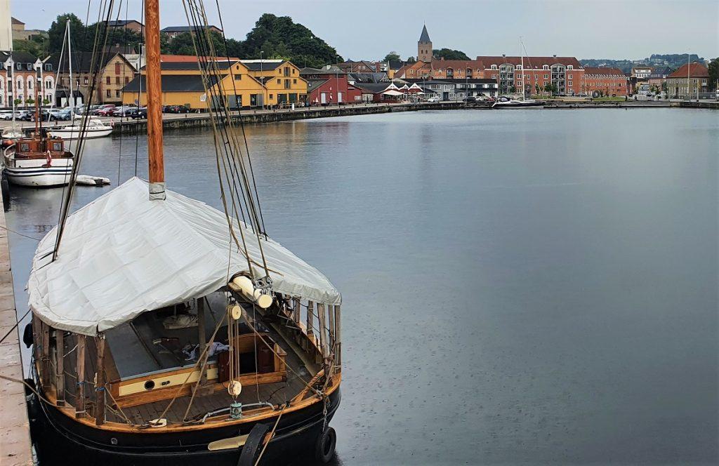 Hobro aan de Mariager Fjord