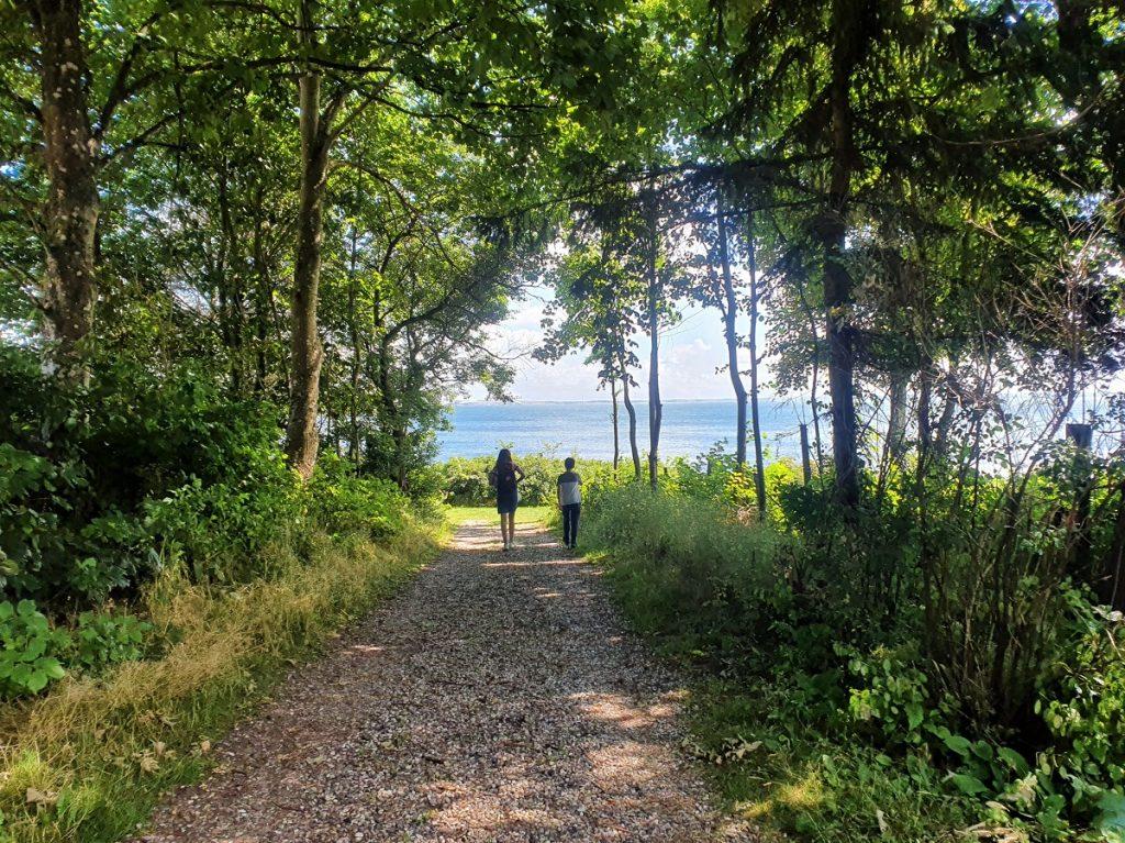 wandelen op veno in de limfjord